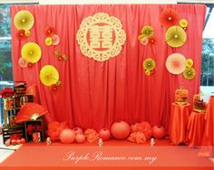 Oriental Wedding Photo Booth Backdrop                                                                                                                                                     More