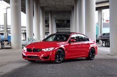Check out this #BMW M3 in Individual Ferrari Red! #MMonday From: BMWBLOG