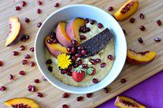Pumpkin, quinoa and millet porridge. Quinoa Porridge, Muesli, Acai Bowl, Oatmeal, Vegan Recipes, Gluten, Pudding, Breakfast, Desserts