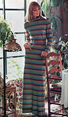 Vogue fashion stripes, 1970s.