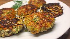 Gemüsefrikadellen mit Kräuterquark Vegetable cakes with herb quark, a very nice recipe from the cate Quark Recipes, Vegetable Recipes, Low Carb Recipes, Vegetarian Recipes, Healthy Recipes, Sauce Tzatziki, Vegetable Cake, Eat Smart, Healthy Foods To Eat