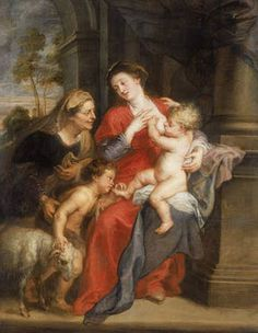 The Virgin and Child with St Elizabeth and the Child Baptist  by Reubens, 1630-35
