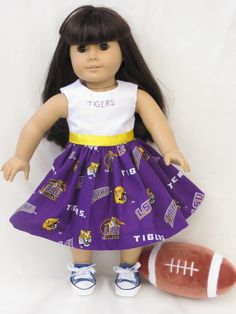 American Girl LSU Doll Dress on Etsy, $13.99