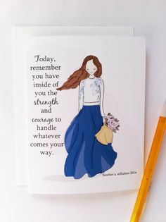 Encouragement Card Courage and Strength Card for Friends