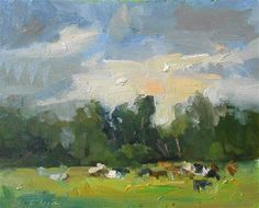 "Daily+Paintworks+-+""Day+in+the+Pasture""+-+Original+Fine+Art+for+Sale+-+©+Kelli+Folsom"