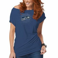 Seattle Seahawks Womens Off The Shoulder Top #madeinusa