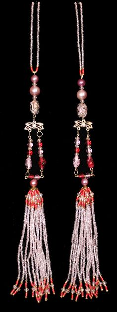 BEADED TASSELS Vintage pearls in shades of by GMBDesignsCustom, $29.00