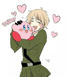 England and Kirby!<<< CUTENESS OVERLOAD *explodes *