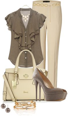 """Ruffle Blouse"" by averbeek on Polyvore"