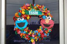 sesame street  birthday wreath