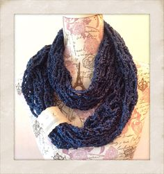 Summer crochet pretty lightweight lace wrap shawl scarf, summer scarf, summer wrap, lace scarf, trending summer fashion, blue scarf, lace by ChicSacs on Etsy