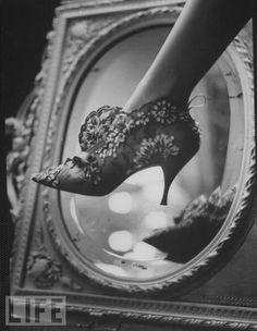 Lacy stiletto...  Vintage Dior