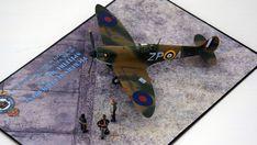 Supermarine Spitfire Mk.1a, P9953, ZP-A, No. 74 Squadron, Sq.-Ldr. D.F. Sailor Malan, RAF Battle of Britain, summer 1940 Science Fiction, Supermarine Spitfire, Battle Of Britain, Ldr, Scale Models, Sailor, Fighter Jets, Aircraft, World