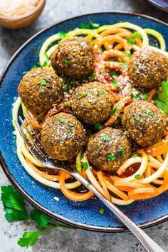 Easy baked Vegetarian Lentil Meatballs - Simple, healthy, gluten free, and protein packed! Perfect for a simple, filling meatless meal.