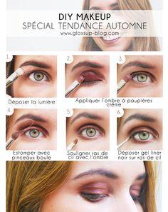 LOOK / DIY MAKEUP spécial Automne 2014 !  Un regard et une bouche bordeaux ? On fonce ! On vous montre sur le blog comment les utiliser   > glossup-blog.com #look #makeup #beauty #diymakeup #fall #winter #glossup #glossupparis #lookbeauty #makeupbar #makeupparis #bordeaux