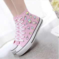 Material: canvas  Design: hand-painted  Shoe material: rubber  Color: white. black. pink. blue. purple. yellow. green.  Size here:  EU35 = 225 mm  EU36 = 230 mm  EU37 = 235 mm  EU38 = 240 mm  EU39 = 245 mm  (tip:1mm=0.039inch)    Tips:   *Please double check above size and consider your measureme...