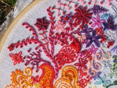 embroidery stitches, images | ... play with rainbows and floss texture and stitches nice via mr x stitch
