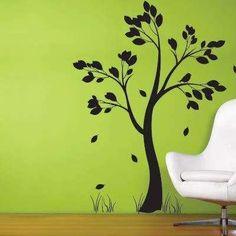 tree wall art--- no green though LOL!