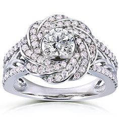 Round Cut Diamond Engagement Ring 1 Carat (ctw) in 14k White Gold _10.0 Kobelli http://www.amazon.com/dp/B00RFOSPN8/ref=cm_sw_r_pi_dp_x8N4vb1SFP9B7