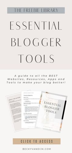A guide to all the BEST Websites, Resources, Apps and Tools to make your blog better! This guide gives you all the important resources you need to know about to manage your blog, social media, email list and more. Download this free eBook in the Resource Library