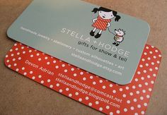 cute business card. info on one side, then photos and me on the other?