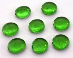 Zöld üveg dekorkavics