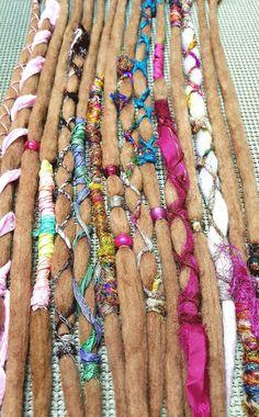 15 SE Ombre Wool Dread Extensions Dreadlocks Wool Hair Accessories Dreads 21 in Hippie Dreads, Hippie Gypsy, Hippy, Wool Dreads, Dreadlocks, Half Dreads, Dread Falls, Dread Hairstyles, Hair Extensions