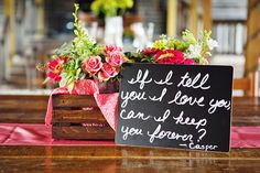 movie quotes on wedding reception tables