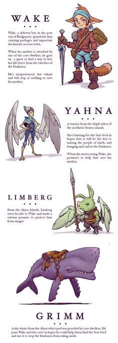 Jake Parker is raising funds for SkyHeart Book I: The Star Seed on Kickstarter! An all-ages fantasy-adventure graphic novel. Character Design References, Game Character, Character Concept, Concept Art, Creature Design, Fantasy Characters, Character Inspiration, Fantasy Art, Anime