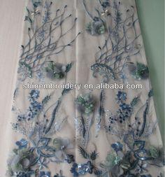 Última moda bordadoras diseños con 3mm sequins bordadoras con flores apliques bordadoras tela de malla-en Tela bordada de Fabricado en m.spanish.alibaba.com.