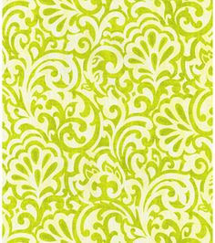 Table Option 2 (Waverly Modern Essentials Print Fabric- Do The Twist Mineral, , hi-res) Home Decor Fabric, Fabric Crafts, Fabric Patterns, Print Patterns, Tulip Colors, Table Tents, Kitchen Fabric, Scroll Pattern, Modern Essentials