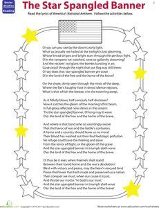 Printables Star Spangled Banner Worksheet pinterest the worlds catalog of ideas read star spangled banner worksheet
