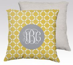 Decorative Throw Pillow Cover- 18x18- Personalized Pillow- Gift for her- with your choice of colors on Etsy, $39.99