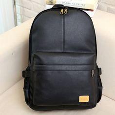 Fashion Men Women PU Leather Backpack Casual School Book Laptop Shoulder Bags   eBay