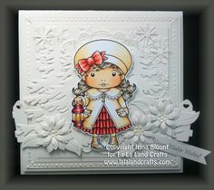 La-La Land Crafts Blog: Christmas Lantern Marci - White on White Card