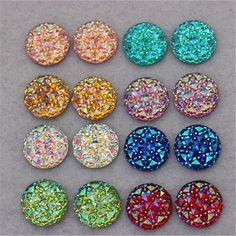 This Listing is for: ▬▬▬▬▬▬▬▬ 100x pieces Round AB Resin Flatback They are so shiny and pretty! use it for scrapbooking, jewelry embellishments, decorate your phone, making cards and just about anything you can think of!  Color: Mixed Colors. AB iridescent rainbow reflective colors If you want only one color, no problem! just send me a message with the color you want.  Size:10mm/16mm 100% Brand New & High Quality!  Material:resin  ►Shipping & Handling time ▬▬▬▬▬▬▬▬▬▬...