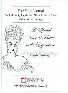 A Musical Tribute to ANGELA LANSBURY Playbill Bucks County Playhouse artist Al Hirschfeld Monday October 28, 2013 a