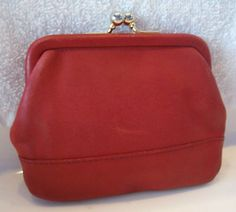vintage Coach red coin purse