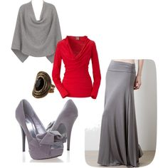 """Soft Grey"" by mandy-e-racine on Polyvore"