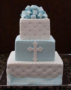.: Boy Baptism Cake