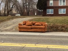 Love Seat - brown fabric, double cushion and maybe a pull out sleeper.  Happy new year! Spotted near Varna, NY.
