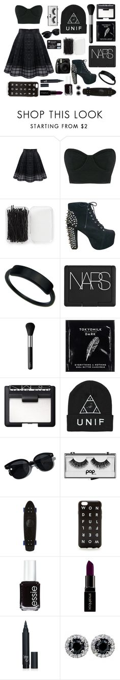 """""""Bad girl"""" by pialein ❤ liked on Polyvore featuring WithChic, Osklen, Forever 21, Jeffrey Campbell, NARS Cosmetics, TokyoMilk, Oliver Peoples, Pop Beauty, Stussy and J.Crew"""