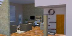 Sala no subsolo com área felina by Nanci Costa Arquitetura