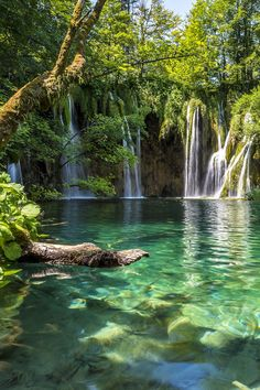 Plitvice Lakes National Park in Croatia. Plitvice Lakes National Park is a must add to your Croatia itinerary.