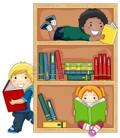 A Small Group of Kids Reading Books