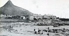Old and New Pictures of Cape Town, Vintage and Historical Images of South Africa - Bathers at Three Anchor Bay (circa Notice the clear view of Lion's Head Table Mountain, English, Modern Landscaping, Antique Maps, Historical Pictures, Vintage Photographs, Vintage Photos, Cape Town, New Pictures