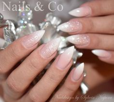 Nägel Stilettos Nägel, Babyboomer Items such as artificial leis or other flowers can also be appropr Nail Art Designs, Long Nail Designs, French Nail Designs, White Nail Designs, Nails Design, Christmas Nail Designs, Christmas Nails, French Nails, Acrylic Toes