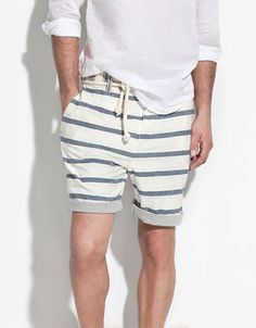 BERMUDAS WITH CONTRASTING WAISTBAND - Man - ZARA United States