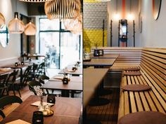 The word Mondo was the starting point for Neoos Design to conceive a concept based on nature and the outdoors. From that point, natural colors, warm materials and nature-shape forms were chosen to achieve an open and welcoming space where customers would feel relaxed in the heart of Nuremberg.