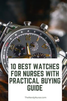 10 Best Watches for Nurses. I always viewed a watch as part of the fundamental nursing uniform. Check out my list of 10 Best watches for nurses and find the perfect watch for you. #thenerdynurse #nurse #nurses #nursewatch #nursegear #watches #giftsfornurses #nursegifts Nurse Meaning, Nursing Pins, Nursing Profession, Cool Tech Gadgets, Nurse Gifts, Nursing Students, Nurses, Cool Watches, Nerdy